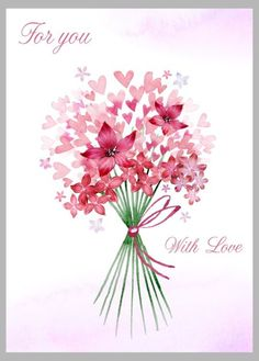 Victoria Nelson - Valentines Bouquet Wcolour Hearts Copy
