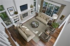 Great Room - arial view from second floor balcony. (168-1088)