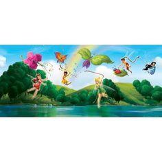 Disney Fairies - Tinkerbell, Klara, Vidia and Fairies, Colourful Butterflies x Wallpaper Hades Disney, Disney Fairies, Tinkerbell, Buy Wallpaper Online, Beautiful Homes, Wall Decor, Design, Painting, Color