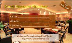 Restaurant Discount Voucher