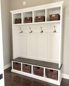 Entryway Bench Storage, Entry Bench, Bench Mudroom, Wall Storage, Porch Bench With Storage, Mudroom Cubbies, Storage Spaces, Hall Tree Bench, Hall Trees