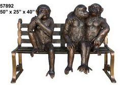 Even monkeys fall in love. This sculpture is made from 100% pure bronze and was carved by one of our finest carvers. It is a perfect show of love and is available on sale at http://www.ivoryandart.com/product/bronze-sculpture-monkeys-in-love-om-a-bench/ FREE DELIVERY AVAILABLE WORLDWIDE!!! #arts #art #bronze #love #monkeys #sculpture #giftideas #museum