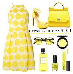 """""""Yellow..."""" by ornellav ❤ liked on Polyvore featuring Dolce&Gabbana, Dorothy Perkins, ZeroUV, OPI, Hermès, MAC Cosmetics, under100 and polyvoreeditorial"""