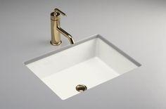 "Verticyl™ rectangle undercounter lavatory  - K-2882 $164  Dimensions:   19-13/16"" x 15-5/8"" x 6-3/4"""