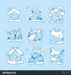 Find Set Vector Hand Drawn Christmas Winter stock images in HD and millions of other royalty-free stock photos, illustrations and vectors in the Shutterstock collection. Thousands of new, high-quality pictures added every day. Blue Pictures, Vector Hand, Winter House, Christmas And New Year, Blue Backgrounds, Cool Words, How To Draw Hands, Royalty Free Stock Photos, Icons