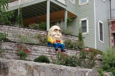 Eureka Springs - love this guy.  We walked past him a lot on our anniversary trip last year. <3