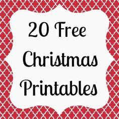 20 Free Christmas Printables