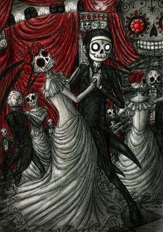 Dancing in Day of The Dead by DemiseMAN.deviantart.com on @deviantART
