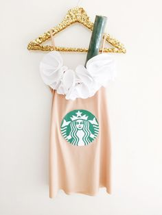 DIY #Starbucks #Frappuccino costume made by the team at RACHEL GEORGE Happy HALLOWEEN!!!!