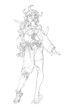 이미지 보기 : 네이버 카페 Reference Manga, Drawing Reference Poses, Henna Drawings, Art Drawings Sketches, Character Sketches, Character Drawing, Anatomy Sketches, Arte Sketchbook, Anime Sketch