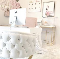 Cool 39 Modern Home Office Design Ideas For Apartment. Pink Office Decor, Home Office Decor, Diy Home Decor, Office Ideas, Office Furniture, Furniture Decor, Office Inspo, Furniture Cleaning, Office Setup