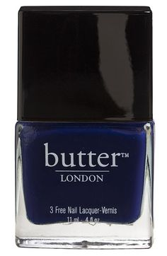 Apparently this is great polish, thick and stays put.  Must try: butter LONDON '3 Free' Nail Lacquer | Nordstrom