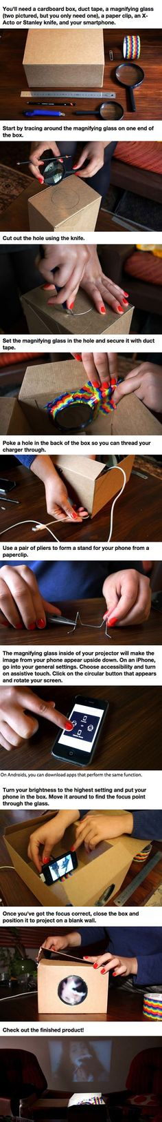 Here is how to make your own smartphone projector in a few easy steps.