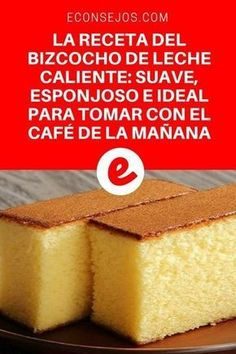 Aprende a hacer un delicioso bizcocho de leche caliente Homemade sponge cake Oven Recipes, Cake Recipes, Cooking Recipes, Hot Milk Cake, Vanilla Sponge Cake, Pastry And Bakery, Sweet Recipes, Cupcake Cakes, Food And Drink