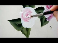 Learn to Paint a Rose, One Stroke at a time - YouTube