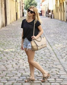New fashion post. Celine trapeze bag. Leopard shoes. Vintage Levi's shorts. New look. Street style. Blogger. Fashion.