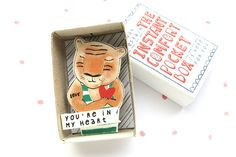 Tiger Love - The Instant Comfort Pocket Box - you're in my heart - consolation and cheer up box