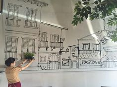 Nice wall..  Cafe @ bdg
