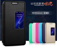 Дешевое Цвет кожаный чехол для Huawei Honor 6 мобильный телефон умный пробудить весны интеллектуальный сна бесплатная лоскут отвечать на телефонные звонки, Купить Качество Сумки и чехлы для телефонов непосредственно из китайских фирмах-поставщиках:                  Кожа         чехол для Huawei Честь 6                              1: Инт