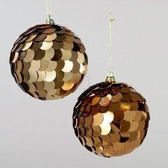 "4"" SEQUIN BALL ORNAMENT, SET OF 2 ASSORTED"