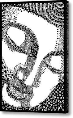 Buddha Zentangle Acrylic Print By Nancy Aurand-humpf