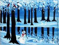 View All Painting Class Portfolio Pieces of The Painted Cork Winter Trees, Winter Art, Sip N Paint, Winter Painting, Canvas Ideas, Art Studios, Cork, Paintings, Inspiration