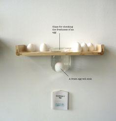 Checking the freshness of an egg