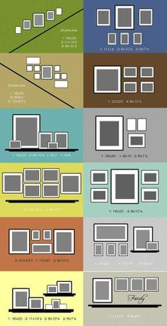 Different ways to hang frames