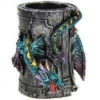 Pot a crayons Dragon Bleu Décorations Diverses Dragons