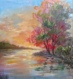 """Evening"" Oil on canvas,100*100cm."