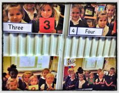 engage children in display - personalised number lines. Great ideas in this post!Not just for EYFS!