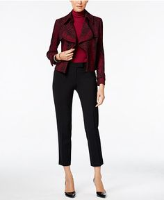 59.99$  Buy here - http://viuzu.justgood.pw/vig/item.php?t=m8lil713250 - Anne Klein Draped Blazer, Turtleneck & Skinny Pants