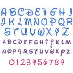 Da Disney Font Letras do alfabeto