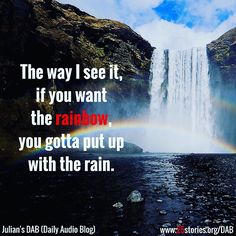 It is never as bad as it seems to be! Always remember that when you feeldown! #rainbow
