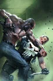 """league-of-extraordinarycomics: """"Luke Cage vs Punisher by Gabriele Dell'Otto """" Luke Cage Marvel, Hq Marvel, Marvel Comics Art, Marvel Heroes, Punisher Comics, Comic Book Artists, Comic Book Characters, Marvel Characters, Comic Character"""