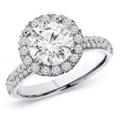 1.50 Carat Round Brilliant Cut Diamond Engagement Ring
