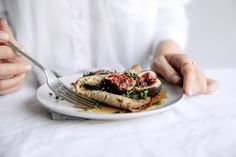 Buttered Buckwheat Crepes with Honey, Thyme & Fresh Figs  |  Gather & Feast