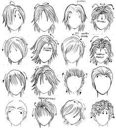 Awesome Manga Cute Cartoon And Boy Hairstyles On Pinterest Hairstyles For Women Draintrainus