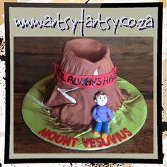Mount Versuvius Volcano Cake #mountversuviusvolcanocake