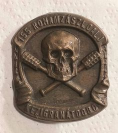 Wwi, Skulls, Personalized Items, Grenades, Badge, Army, Skeletons