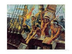 Boston Tea Party Of December In protest to the tea act, the sons of liberty destroyed British tea by throwing it into the river. Mohawk Indians, Trump Tax Plan, Boston Tea, American Revolutionary War, Animation, Party Poster, World History, American Indians, 13 Colonies