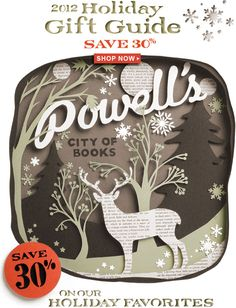 The incredible Powell's Books design team hand-cut all of this paper artwork!