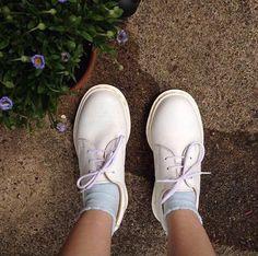 The White Mono 1461 shoe, shared by neon.junkyard on Instagram.