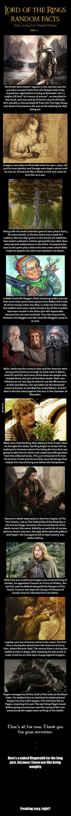 Here are some Lord of the Rings random facts (Part 6) - 9GAG