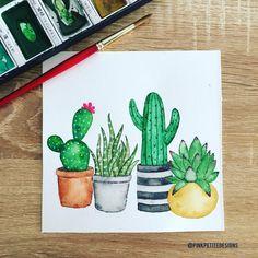 669 vind-ik-leuks, 6 reacties - Anne | Pink Petite Designs (@pinkpetitedesigns) op Instagram: 'Life is like a cactus, prickly but beautiful. . . {kuretake gansai tambiPrinceton heritage…'