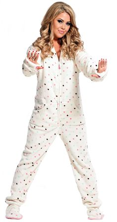 A hooded-footed adult onesie.