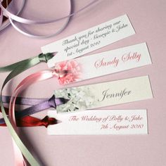 Example Of Wedding Cookie Personalised Gift Tags