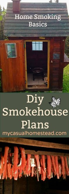 Learn how to make a professional Smokehouse at home. A DIY project with simple step by step instructions. Learn food safty and smoking basics.