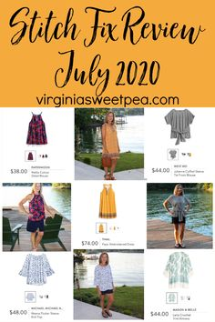 Stitch Fix Review for July 2020 - See summer fashions picked by my stylist to try for July.  #stitchfix #stitchfixreview via @spaula Stitchfix Reviews, Make Your Own Clothes, Tie Front Blouse, New Month, Summer Fashions, Old Navy Shorts, Months In A Year, Swimsuit Cover, Cuff Sleeves