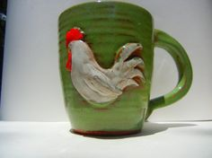 One+of+a+kind+Hand+thrown+Mug+embellished+with+by+TeriWhitnerArt,+$24.00